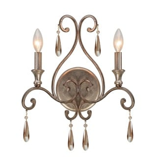 Crystorama Shelby Collection 2-light Distressed Twilight Wall Sconce