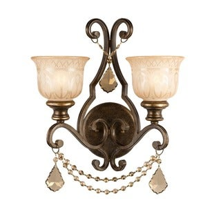Crystorama Norwalk Collection 2-light Bronze Umber Wall Sconce