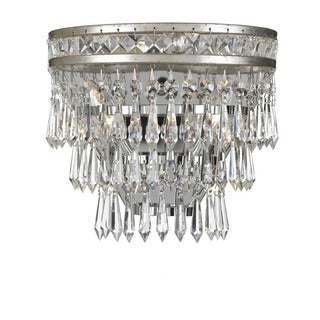 Crystorama Mercer Collection 2-light Olde SIlver Wall Sconce