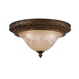 Crystorama Norwalk Collection 3-light Bronze Umber Flush Mount Fixture