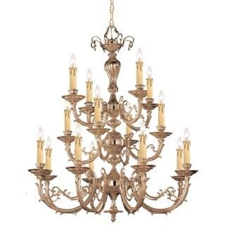 Crystorama Etta Collection 16-light Olde Brass Chandelier
