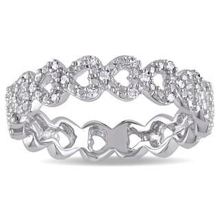 Miadora Sterling Silver Diamond Accent Heart Ring