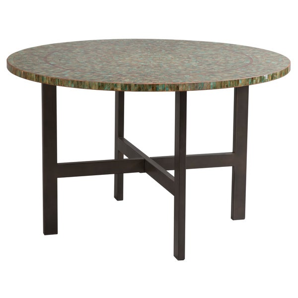 Ink And Ivy Mosaic Glass Round Table Free Shipping Today