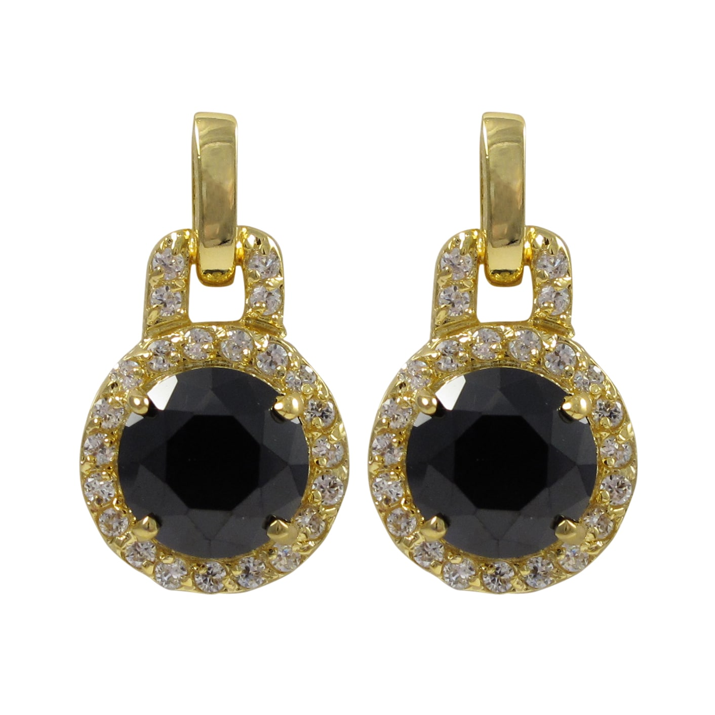 Buy Black Cubic Zirconia Earrings line at Overstock