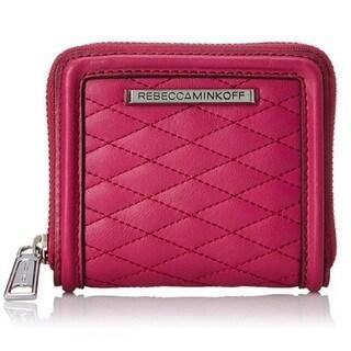 Rebecca Minkoff Saffiano Mini Ava Zip Wallet - Magenta