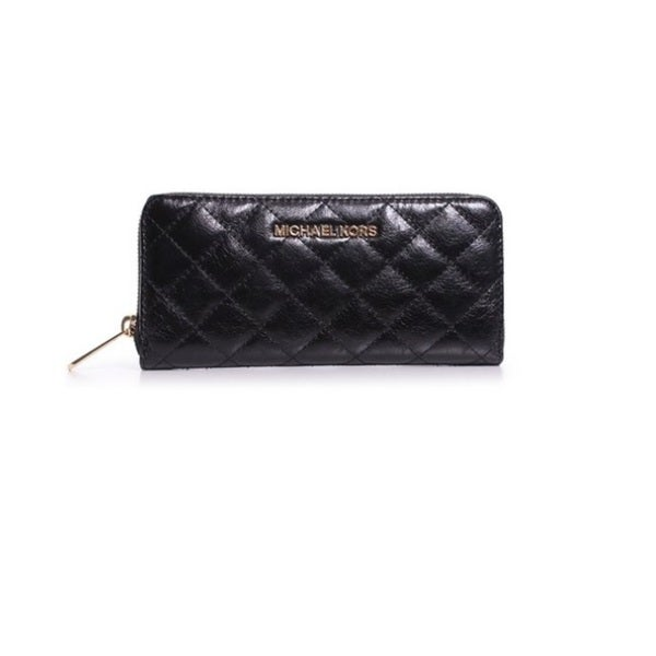 8535601e135e Shop Michael Kors Susannah Black Quilted Continental Wallet - Free ...