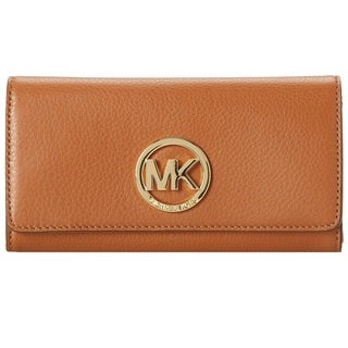 Michael Kors Fulton Luggage Brown Carryall Wallet