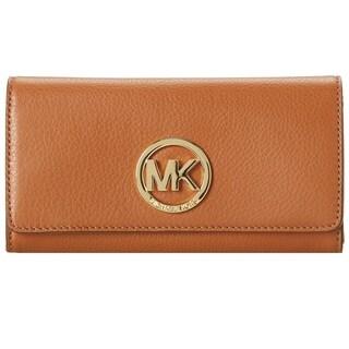 Michael Kors Fulton Luggage Brown Carryall Wallet