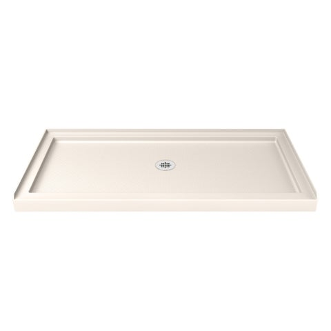 DreamLine SlimLine 32 in. by 60 in. Single Threshold Shower Base in Biscuit Color