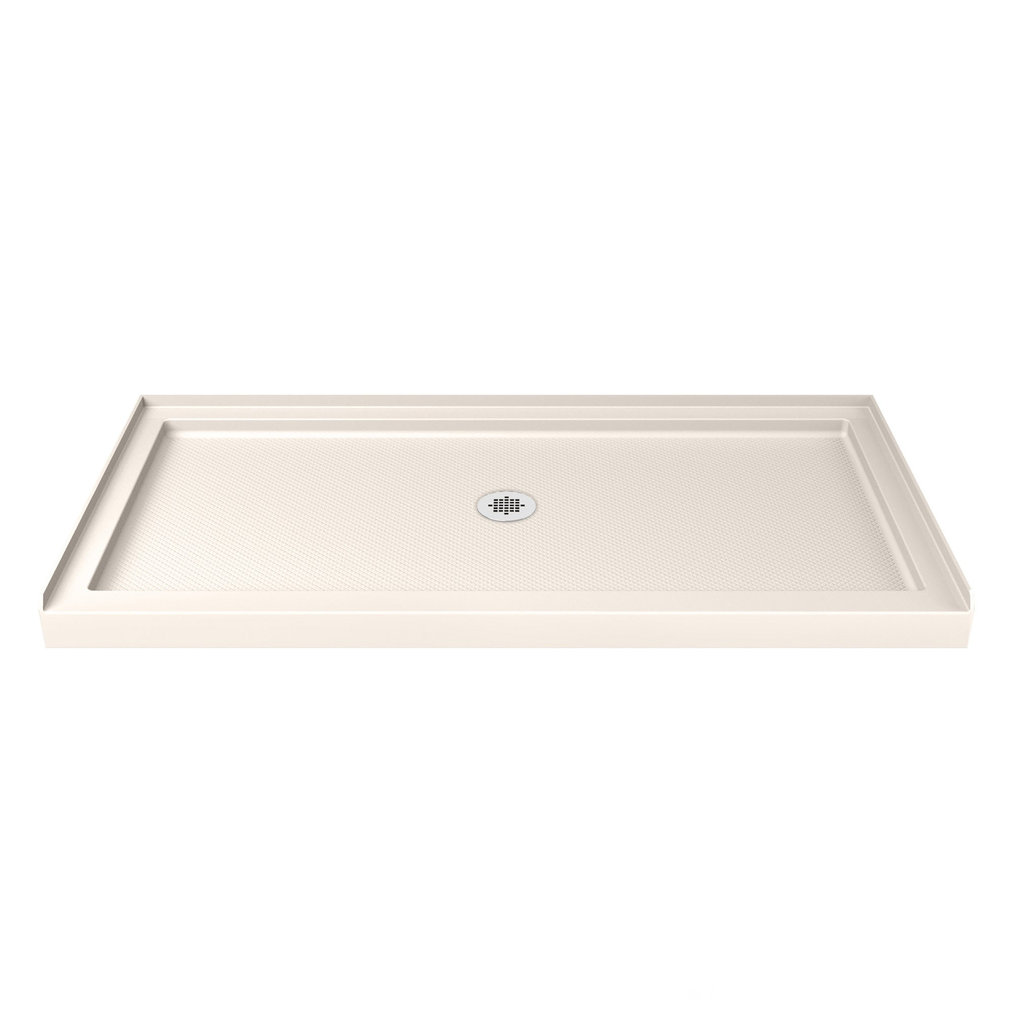 Dreamline SlimLine 30 in. by 60 in. Single Threshold Shower Base in Biscuit Color (Left Hand Drain Base), Beige