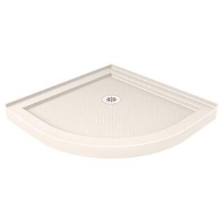 DreamLine SlimLine 38 x 38-inch Biscuit Quarter Round Shower Tray