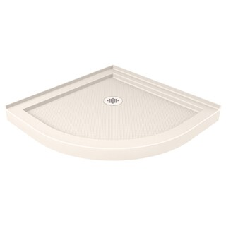 DreamLine SlimLine 33 x 33-inch Biscuit Quarter Round Shower Base