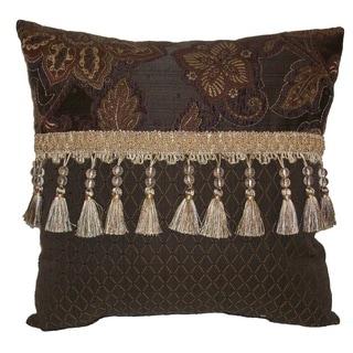 Riviera Double Bead Tassel 18-inch Throw Pillow