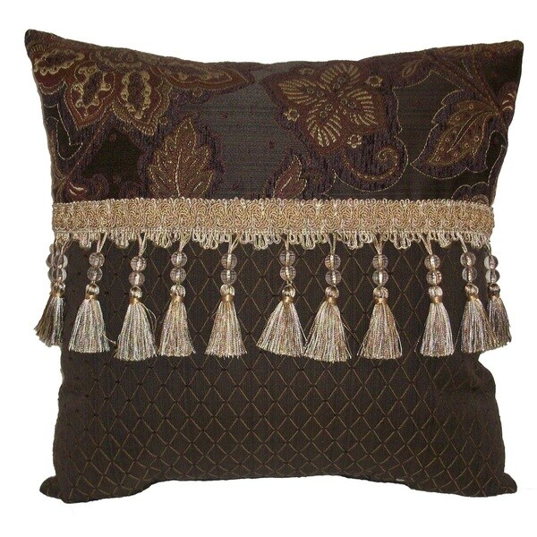 Riviera Double Bead Tassel 18-inch Throw Pillow