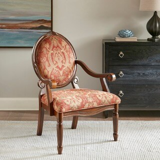 Madison Park Cole Exposed Wood Arm Chair