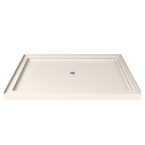 DreamLine SlimLine 34 in. by 42 in. Single Threshold Shower Base in Biscuit Color