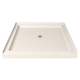 DreamLine SlimLine 32 in. by 32 in. Single Threshold Shower Base in Biscuit Color