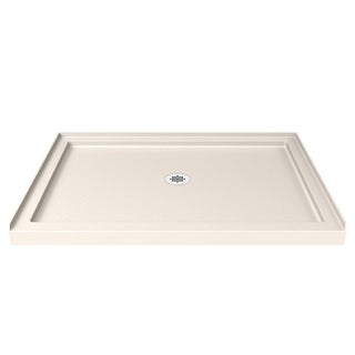DreamLine SlimLine 36 in. by 48 in. Single Threshold Shower Base in Biscuit Color