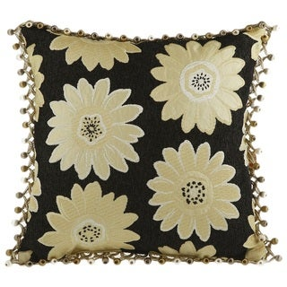Daisy May Berry Tassle Decorative 18-inch Throw Pillow