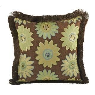 Daisy May Brush Fringe Decorative 20-inch Throw Pillow