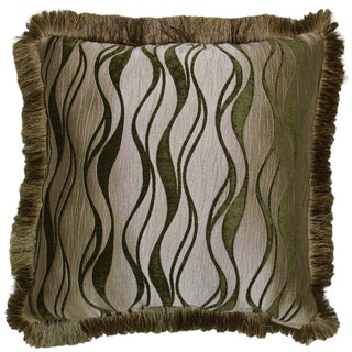 Lampassi Wave Decorative 20-inch Throw Pillow