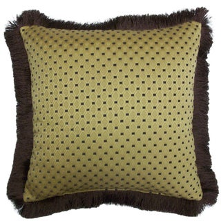 Signella Brush Fringe Decorative 20-inch Throw Pillow