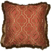 Agnes Embroidery Decorative 20-inch Throw Pillow