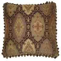 Ruche Berry Tassel Decorative 18-inch Throw Pillow