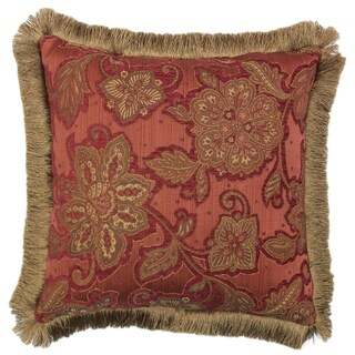 Riviera Brush Fringe 20-inch Throw Pillow