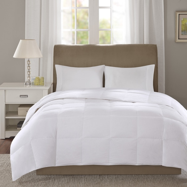 True North by Sleep Philosophy Level 1 Cotton 300 Thread Count Sateen White Down Comforter with 3M Scotchgard