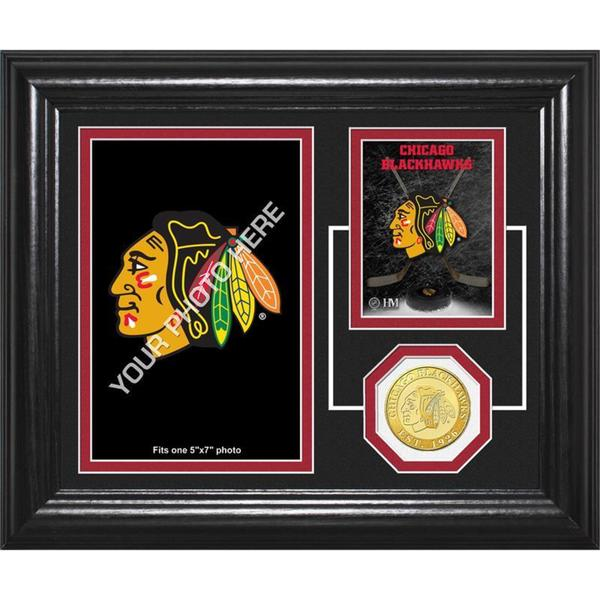 "Chicago Blackhawks ""Fan Memories"" Bronze Coin Desktop Photo Mint"