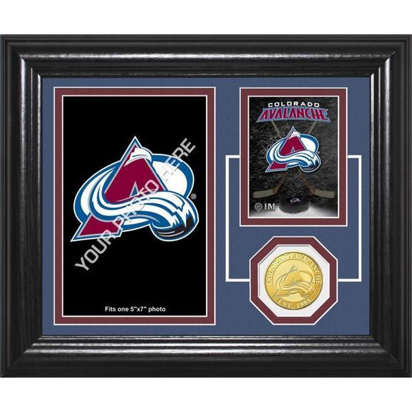 "Colorado Avalanche ""Fan Memories"" Bronze Coin Desktop Photo Mint"