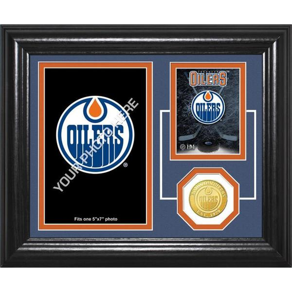 "Edmonton Oilers ""Fan Memories"" Bronze Coin Desktop Photo Mint"