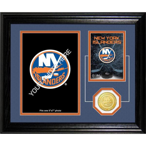 "New York Islanders ""Fan Memories"" Bronze Coin Desktop Photo Mint"