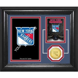 "New York Rangers ""Fan Memories"" Bronze Coin Desktop Photo Mint"