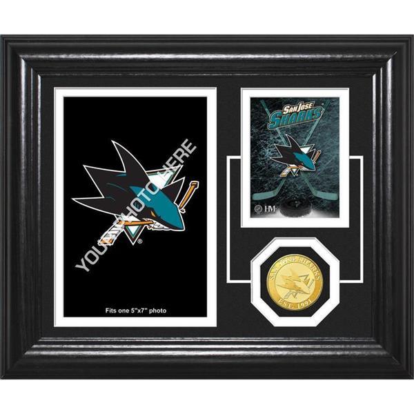 """San Jose Sharks """"Fan Memories"""" Bronze Coin Desktop Photo Mint"""