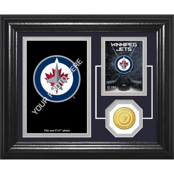 "Winnipeg Jets ""Fan Memories"" Bronze Coin Desktop Photo Mint"