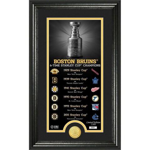 "Boston Bruins ""Legacy"" Supreme Bronze Coin Panoramic Photo Mint"