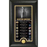 "Boston Bruins ""Legacy"" Supreme Bronze Coin Panoramic Photo Mint"