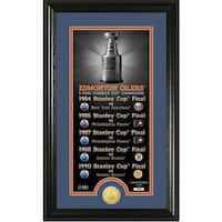"Edmonton Oilers ""Legacy"" Supreme Bronze Coin Panoramic Photo Mint"