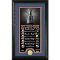 "New York Islanders ""Legacy"" Supreme Bronze Coin Panoramic Photo Mint - Multi-color"