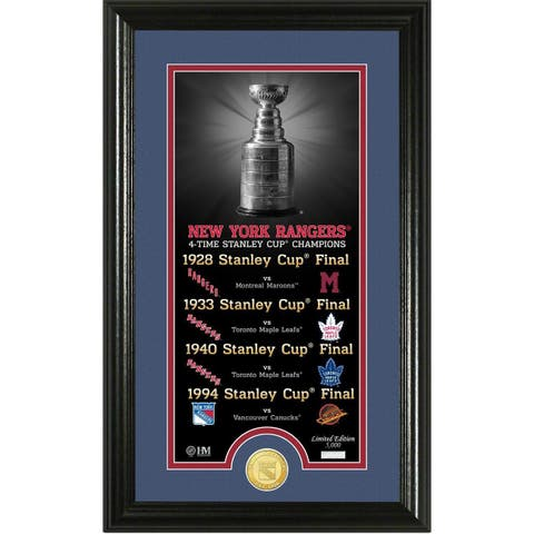 """New York Rangers """"Legacy"""" Supreme Bronze Coin Panoramic Photo Mint - Multi-color"""