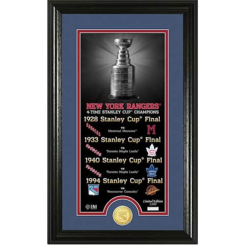 "New York Rangers ""Legacy"" Supreme Bronze Coin Panoramic Photo Mint - Multi-color"