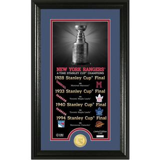 "New York Rangers ""Legacy"" Supreme Bronze Coin Panoramic Photo Mint"
