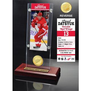 Pavel Datsyuk Ticket & Bronze Coin Acrylic Desk Top
