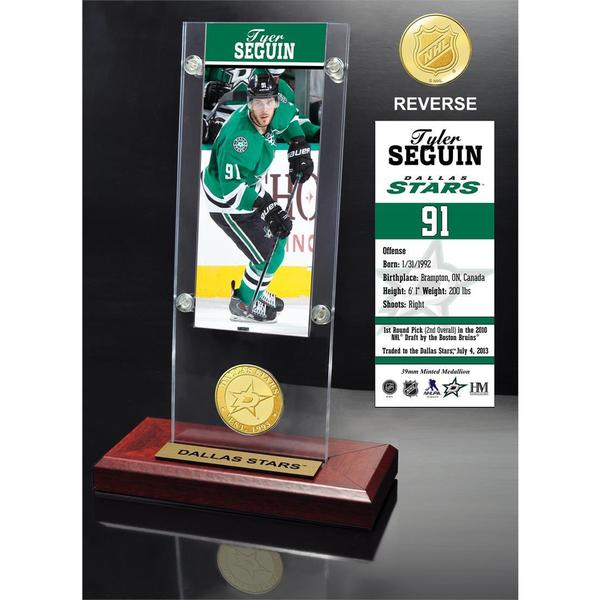 Tyler Seguin Ticket & Bronze Coin Acrylic Desk Top