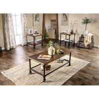 Furniture of America Daimon Industrial 3-Piece Accent Table Set