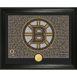 "Boston Bruins ""Mosaic"" Bronze Coin Photo Mint"