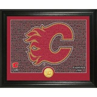 "Calgary Flames ""Mosaic"" Bronze Coin Photo Mint"