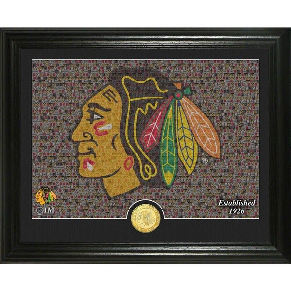 "Chicago Blackhawks ""Mosaic"" Bronze Coin Photo Mint"